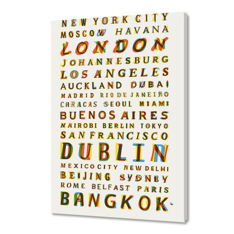 "Travel World Cities (16""W x 24""H x 1.5""D)"