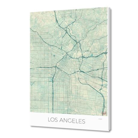 "Los Angeles Map Blue (16""W x 24""H x 1.5""D)"