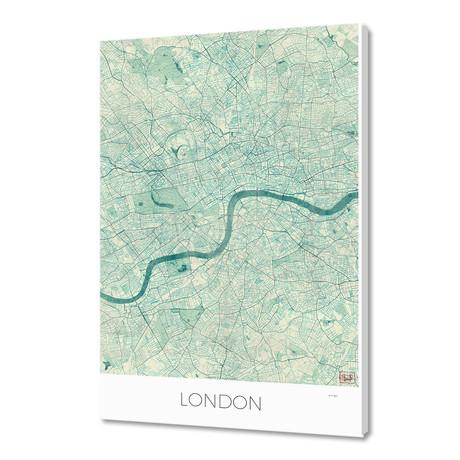 "London Map Blue (16""W x 24""H x 1.5""D)"