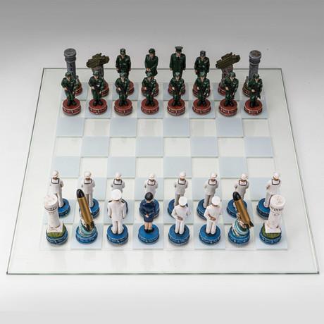 Army Vs Navy Chess Set