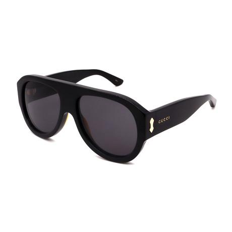 Men's GG0668S-001Full Rim Sunglasses // Black + Gray