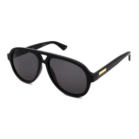 Men's GG0767S-001 Full Rim Sunglasses // Black + Gray