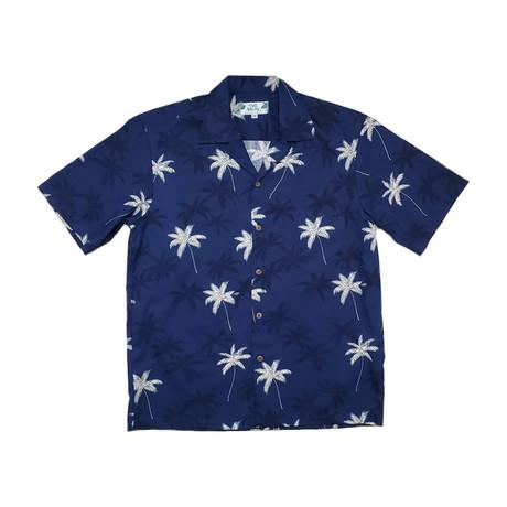 Palm Shirt // Navy (Small)