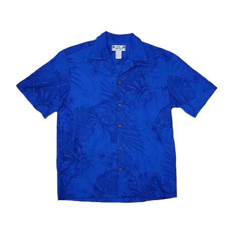 Monstera Ceres Shirt // Royal Blue (Small)