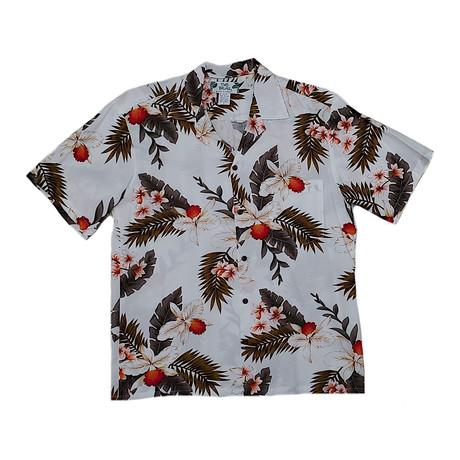 Hawaiian Orchid Shirt // White (Small)