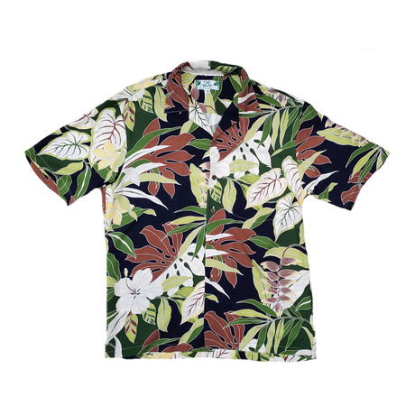 Tropical Forest Shirt // Navy (Small)