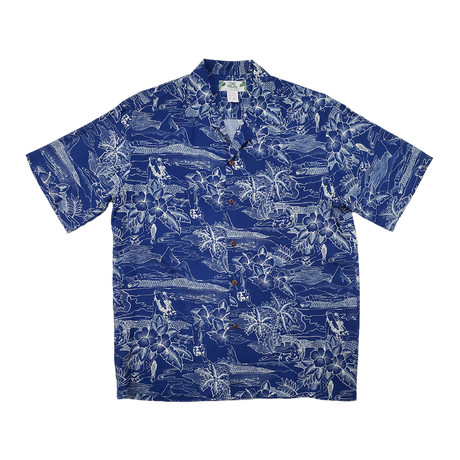 Etches of Hawaii Shirt // Blue (Small)