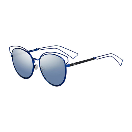 Women's SIDER2S-0MZP-NK Sider2S Sunglasses // Blue + Blue Silver Gradient