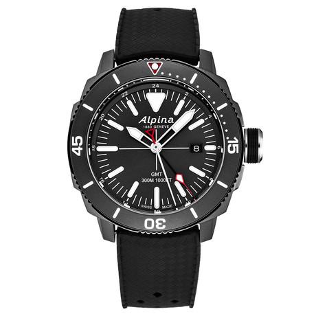 Alpina Seastrong Diver GMT Quartz // AL-247LGG4TV6 // New