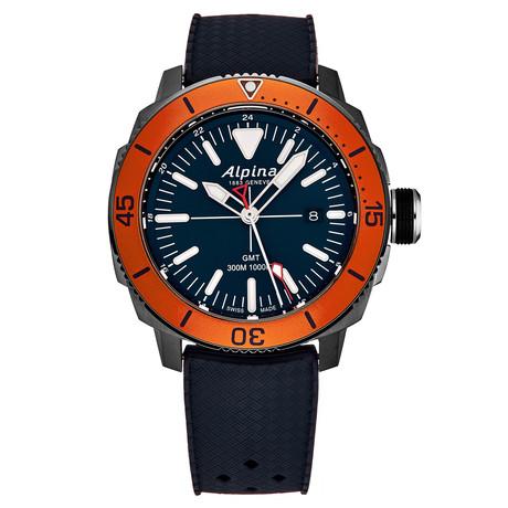 Alpina Seastrong Diver GMT Quartz // AL-247LNO4TV6 // New