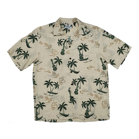 Islands Shirt // Beige (Small)