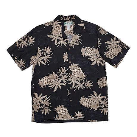 Pineapple Map Shirt // Black (Small)