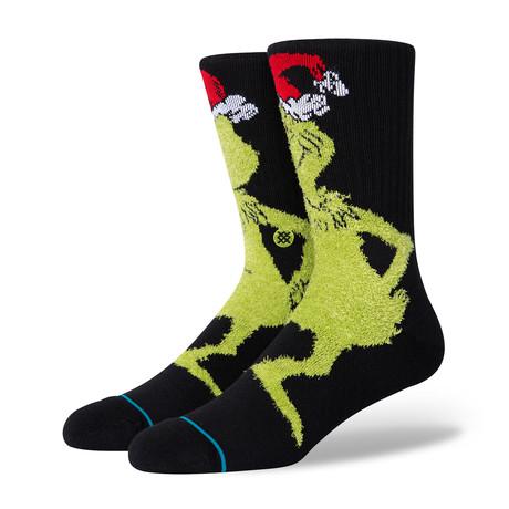 Mr. Grinch Socks // Black (M)