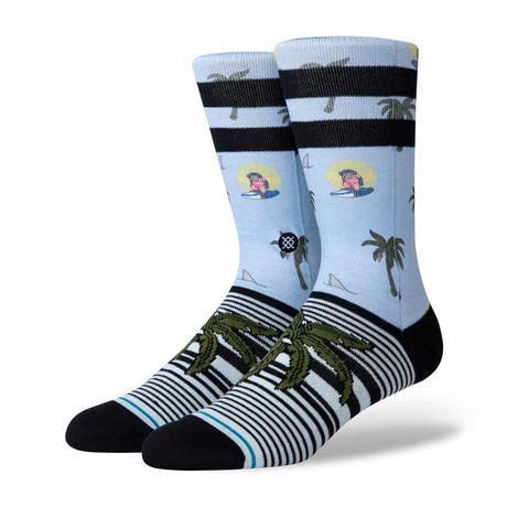Aloha Monkey Socks // Blue (M)