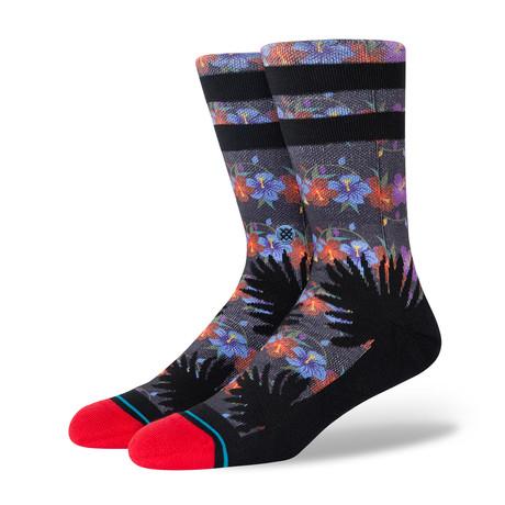 Island Lights Socks // Black (M)