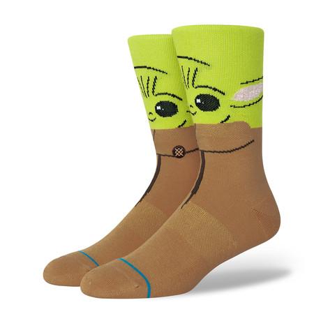 The Bounty Socks // Green + Brown (M)