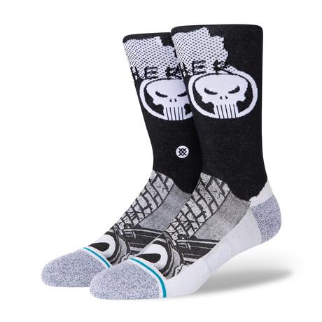 Punisher Socks // Black (M)