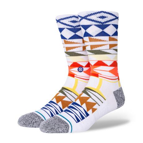 Warrior Print Socks // White (M)