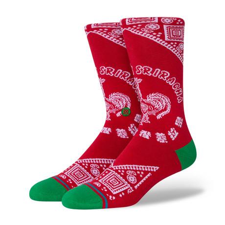 Sriracha Socks // Red (M)