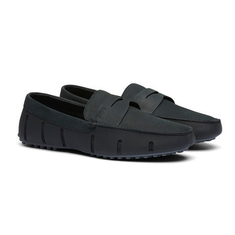 Penny Lux Loafer Driver // Black + Gray (Men's US Size 7)