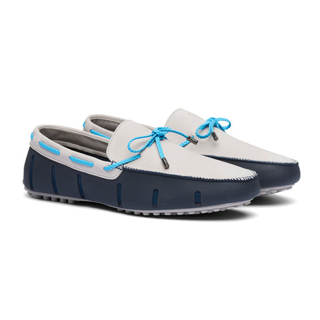 Braided Lace Lux Loafer // Navy + Alloy (Men's US Size 7)