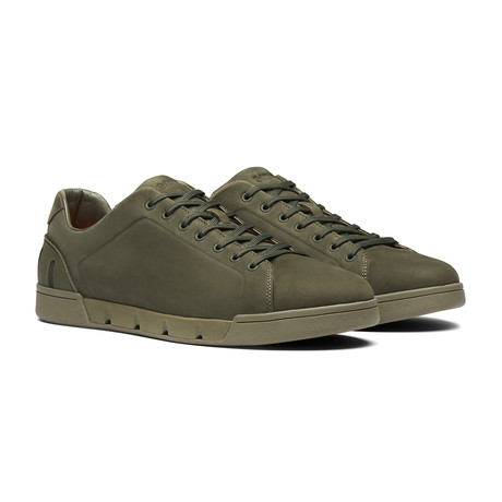 Breeze Tennis Leather // Olive Night (Men's US Size 7)