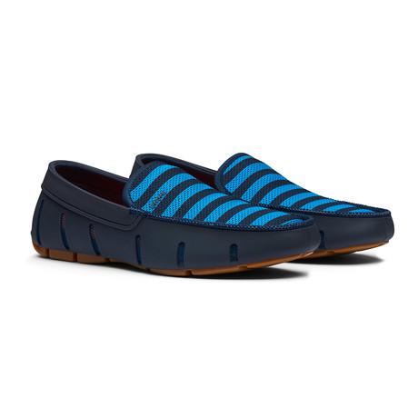Striped Venetian Loafer // Navy + Turkish Tile + Gum (Men's US Size 7)