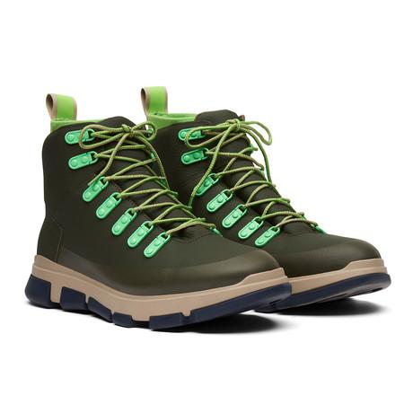 City Hiker // Olive Night + Acid Green + Navy (Men's US Size 7)