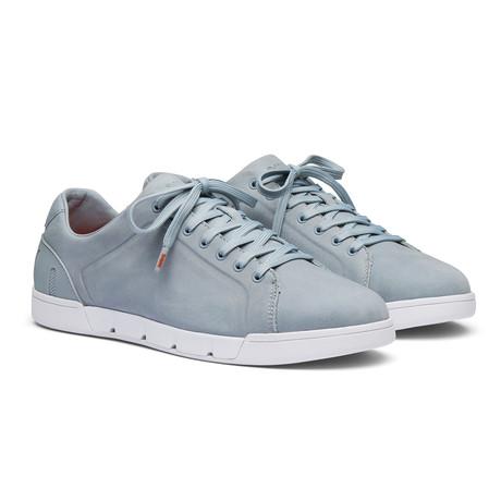 Breeze Tennis Leather // Quarry + White (Men's US Size 7)