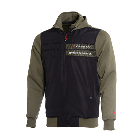 Hooded Full-Zip Sweatshirt // Olive (S)