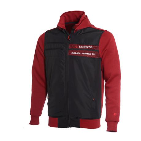 Hooded Full-Zip Sweatshirt // Burgundy (S)