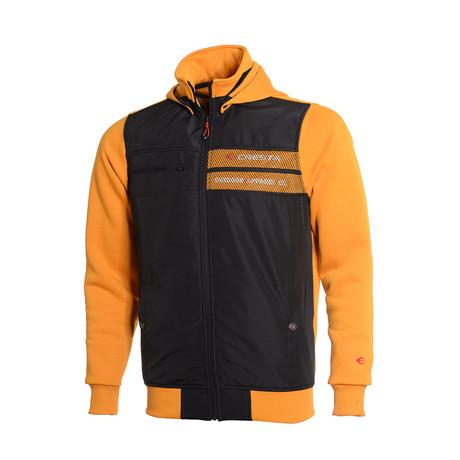 Hooded Full-Zip Sweatshirt // Mustard Yellow (S)