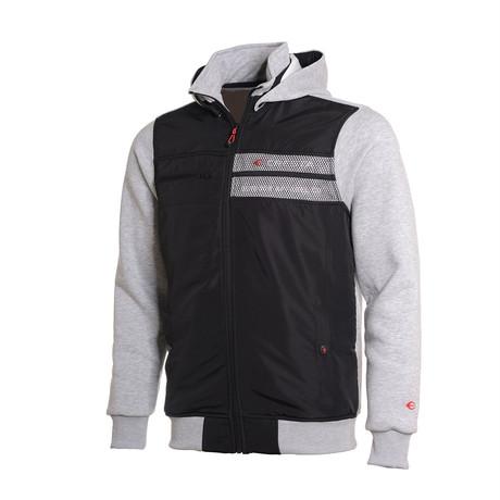 Hooded Full-Zip Sweatshirt // Gray (S)