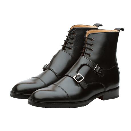 Monkstrap Leather Boots // Black (US: 7)