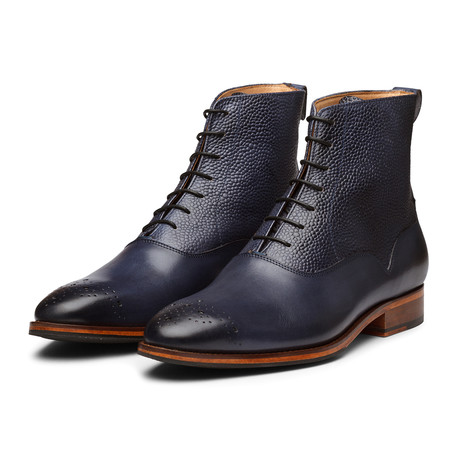 Balmoral Leather Boot // Blue (US: 7)