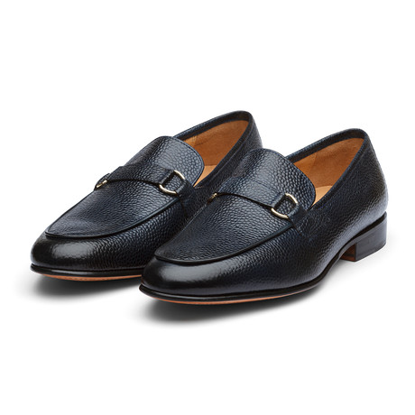 Lorenzo Leather Loafers // Navy Grain (US: 7)