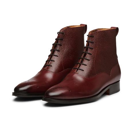 Balmoral Leather Boot // Burgundy (US: 7)