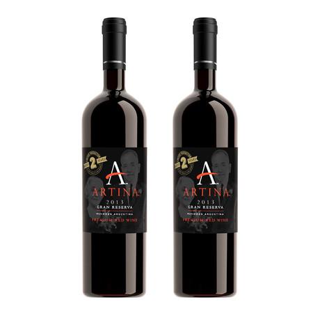 2013 ARTINA™ GRAN RESERVA // Set of 2 // 750 ml Each