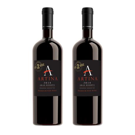 2014 ARTINA™ GRAN RESERVA // Set of 2 // 750 ml Each