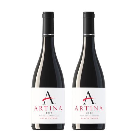 2015 ARTINA™ ESTATE SYRAH // Set of 2 // 750 ml Each
