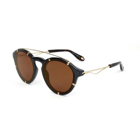 Givenchy // Unisex 7088 Sunglasses V1 // Black + Gold