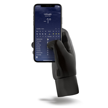 Insulated Touchscreen Gloves // Black (Small)