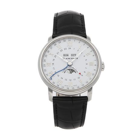 Blancpain Villeret Quantieme Complet Phases de Lune GMT Automatic // 6676-1127-55B // Pre-Owned
