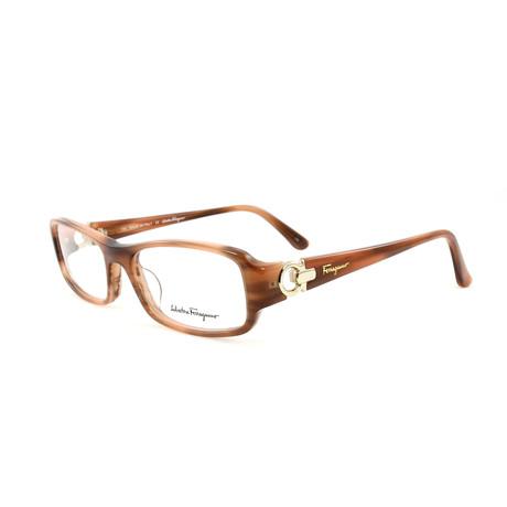 Women's SF2600-724-53 Optical Frames // Honey Horn