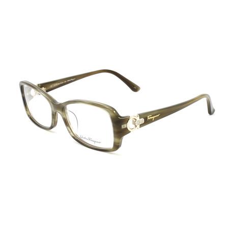 Women's SF2610R-319-52 Optical Frames // Striped Green