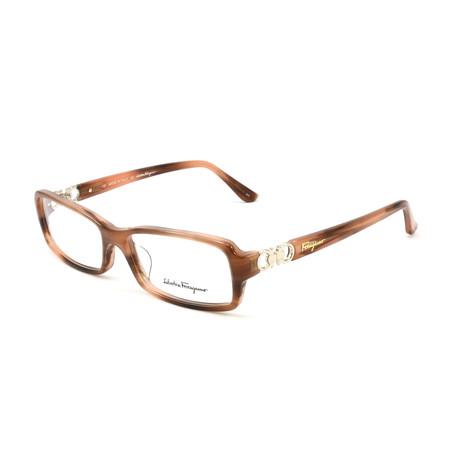 Women's SF2611-260-53 Optical Frames // Light Brown Horn