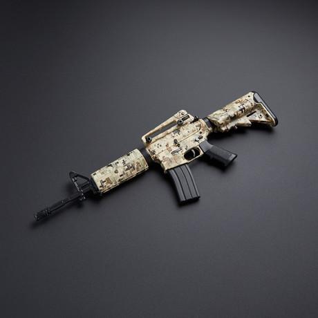 AR15 1:3 Scale Diecast Metal Model Gun + Display Stand // ACU