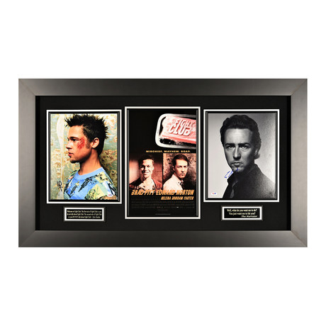 Fight Club // Autographed Display