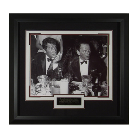 Sinatra + Martin Drinking // Collectible Display // Unsigned