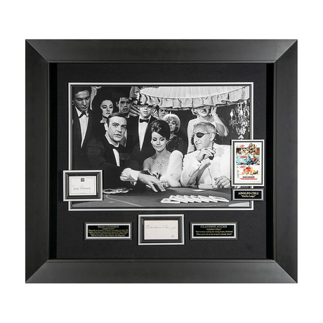 Connery + Auger // Thunderball Autographed Display
